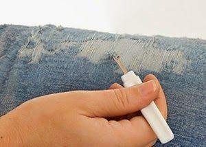 Cách làm quần Jean/Bò rách CỰC ngầu đơn giản 7