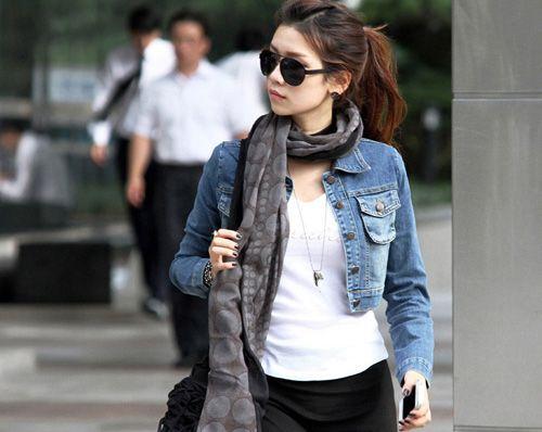 Áo khoác jeans/bò/denim nữ đẹp! Cách phối áo khoác jean 2