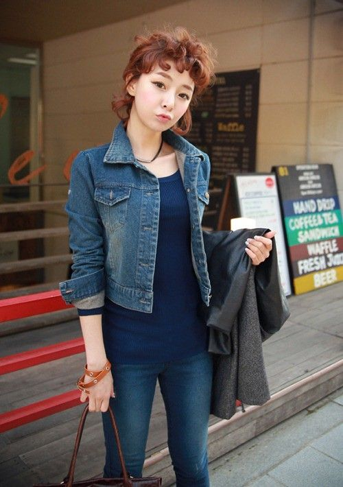 Áo khoác jeans/bò/denim nữ đẹp! Cách phối áo khoác jean 1