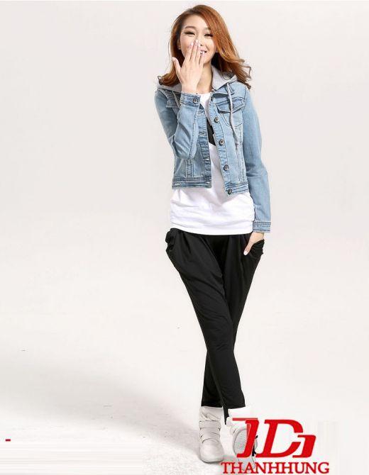 Áo khoác jeans/bò/denim nữ đẹp! Cách phối áo khoác jean 10