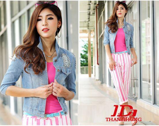 Áo khoác jeans/bò/denim nữ đẹp! Cách phối áo khoác jean 16