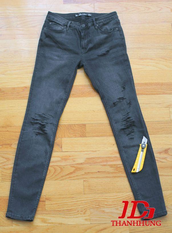 Cách làm quần Jean/Bò rách CỰC ngầu đơn giản 4
